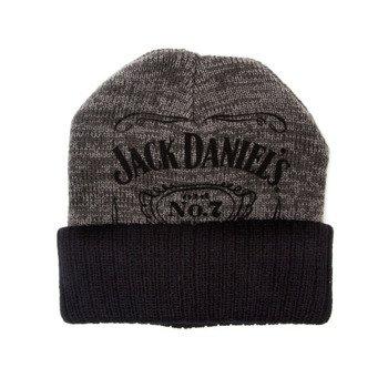 czapka zimowa JACK DANIELS BLACK GREY