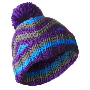 czapka zimowa MASTERDIS - BEANIE ZIG ZAG purple/turquoise