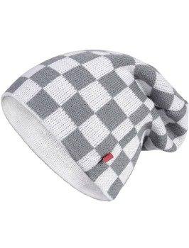 czapka zimowa MASTERDIS - C3 CHECK KNIT BEANIE white/grey