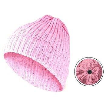 czapka zimowa MASTERDIS - KMA BEANIE BASIC FLIP neon pink