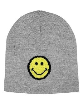 czapka zimowa MASTERDIS - SMILEY JACQUARD KNITgrey