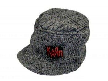 czapka zimowa z daszkiem KORN - GREY BILLED