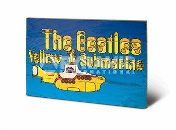 dekoracja/obraz na drewnie THE BEATLES (YELLOW SUBMARINE)