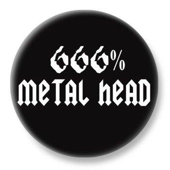 duży kapsel 666% METAL HEAD