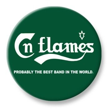 duży kapsel IN FLAMES - PROBABLY THE BEST BAND IN THE WORLD
