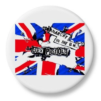 duży kapsel SEX PISTOLS - ANARCHY IN THE UK biały