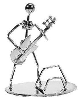 figurka BASISTA chromowana, 13,5cm