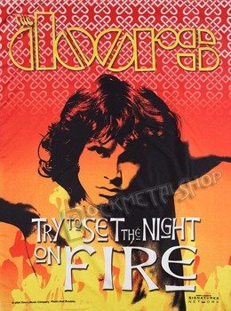 flaga THE DOORS - SET THE NIGHT ON FIRE
