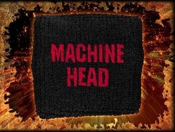 frotka na rękę MACHINE HEAD - RED LOGO