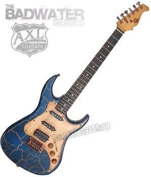 gitara elektryczna AXL SRO BADWATER / BLUE CRACKLE