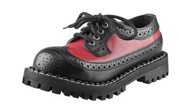 glany STEEL - BLACK / RED (4 dziurki)
