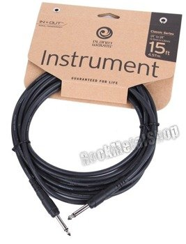 kabel gitarowy 4,57m PLANET WAVES CLASSIC jack prosty/prosty (PW-CGT-15)