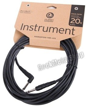 kabel gitarowy 6,10m PLANET WAVES CLASSIC jack prosty/kąt (PW-CGTRA-20)
