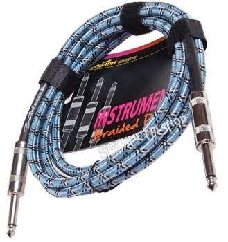 kabel gitarowy BOSTON - BRAIDED PRO 3m jack prosty/prosty