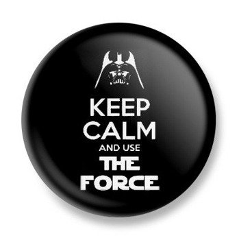 kapsel KEEP CALM AND USE THE FORCE Ø25mm