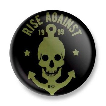 kapsel RISE AGAINST - SKULL ANCHOR Ø25mm