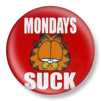 kapsel średni GARFIELD - MONDAYS SUCK Ø38mm