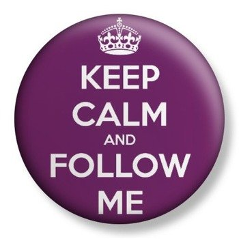 kapsel średni KEEP CALM AND FOLLOW ME Ø38mm