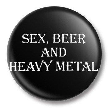 kapsel średni SEX, BEER AND HEAVY METAL Ø38mm