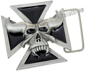 klamra do pasa DEMON SKULL CROSS