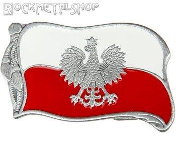 klamra do pasa FLAGA POLSKI + GODŁO