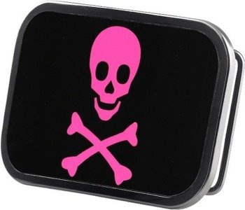 klamra do pasa SKULL FRAMED FCG BLACK/FUCHSIA