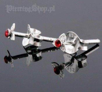 kolczyki do uszu KWIATEK RED [STF-212]