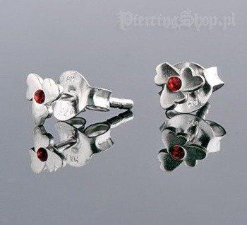 kolczyki do uszu KWIATEK RED [STF-346]