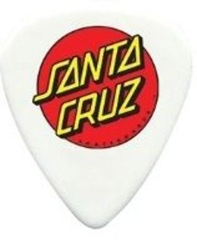 kostka gitarowa DUNLOP SK8 SERIES CELLULOID - SANTA CRUZ WHITE (SK8-P01P)