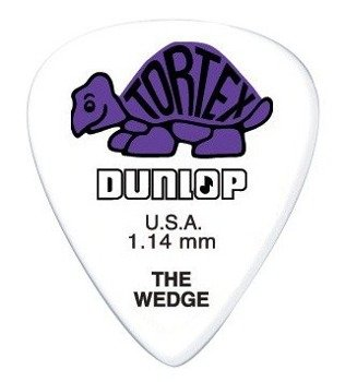 kostka gitarowa DUNLOP - TORTEX THE WEDGE PURPLE 1.14 mm (424R1.14)