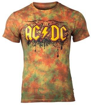 koszulka AC/DC - GRAFFITI LOGO barwiona