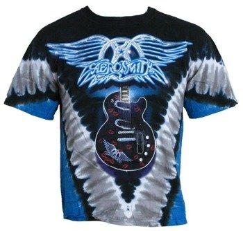 koszulka AEROSMITH - GUITAR, barwiona