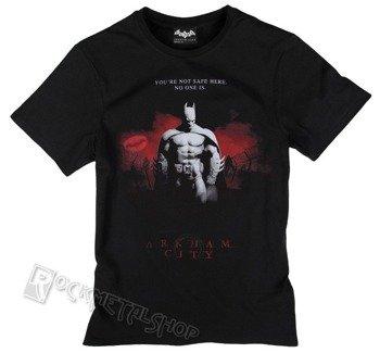 koszulka BATMAN ARKHAM CITY - YOU'RE NOT SAFE HERE czarna