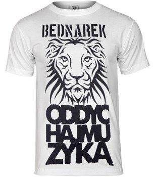 koszulka BEDNAREK - ODDYCHAJ MUZYKĄ biała