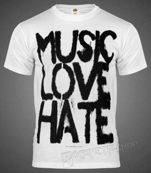 koszulka BLACK ICON - MUSIC, LOVE white (MICON103WHT)