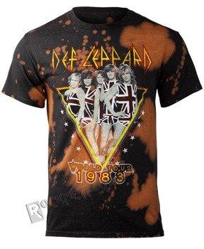 koszulka DEF LEPPARD - 1983 TOUR, barwiona