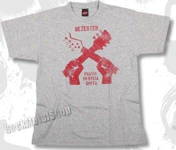 koszulka DEZERTER - PRAWO DO BYCIA IDIOTĄ szary melanż