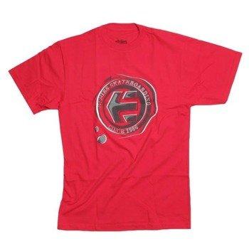 koszulka ETNIES -Waxed (red) 09'