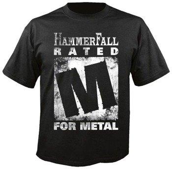 koszulka HAMMERFALL -  RATED M FOR METAL