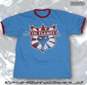 koszulka IN FLAMES - LOGO błękitna