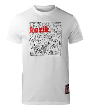 koszulka KAZIK - NA ŻYWO, ALE W STUDIO biała