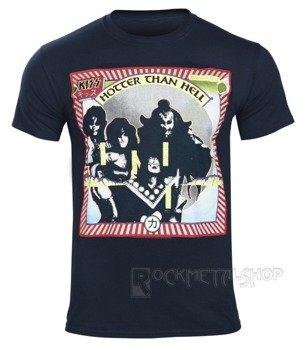 koszulka KISS - HOTTER THAN HELL granatowa