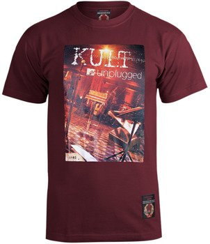 koszulka KULT - UNPLUGGED wiśniowa