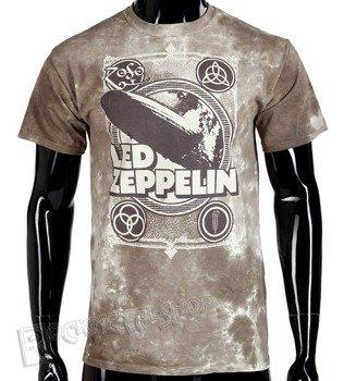 koszulka LED ZEPPELIN - ZEPPELIN POSTER, barwiona