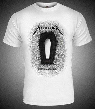 koszulka METALLICA - DEATH MAGNETIC biała