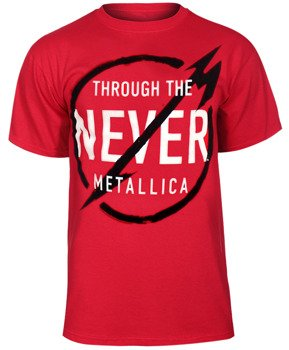 koszulka METALLICA - NEVER red