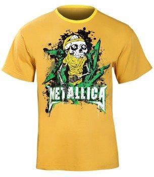 koszulka METALLICA - SKULL ciemno żółta