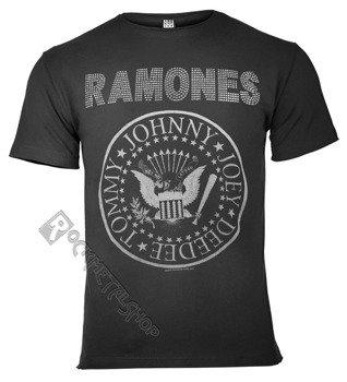 koszulka RAMONES - LOGO CHARCOAL, cyrkonie