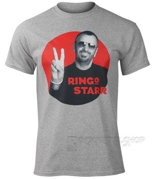 koszulka RINGO STARR - PEACE RED CIRCLE