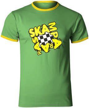 koszulka SKAMPARARAS - LOGO (zielono-żółta)